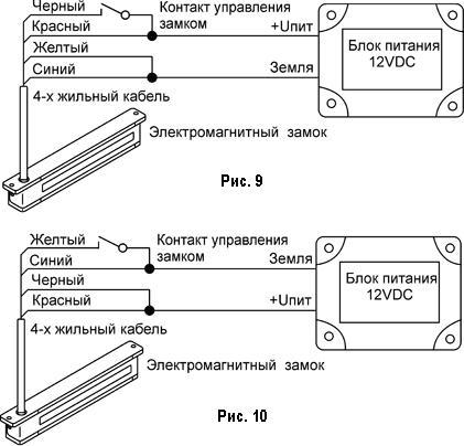 Схема подключения ЗАМКА при